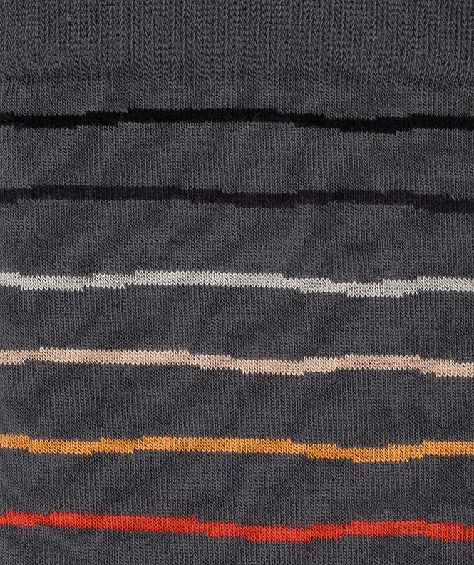 Chaussettes Rayures irrégulières Coton Gris