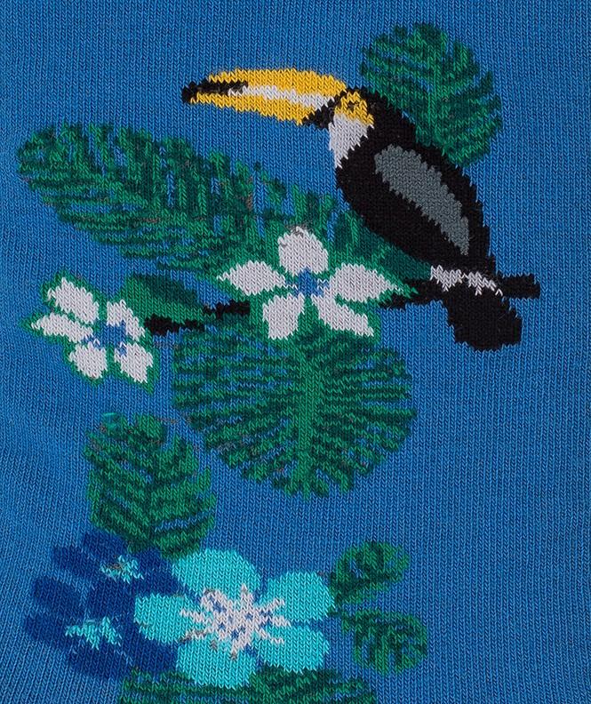 Chaussettes Toucan Coton Bleu