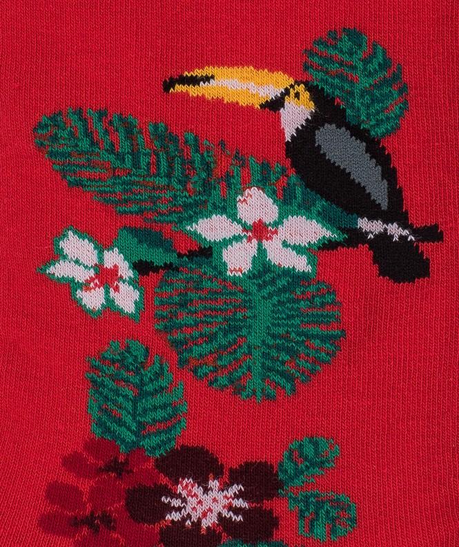 Chaussettes Toucan Coton Rouge