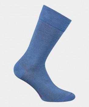 Chaussettes Unies jersey Lin Bleu