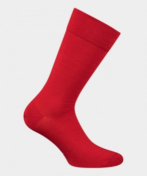 Chaussettes Unies jersey Lin Rouge