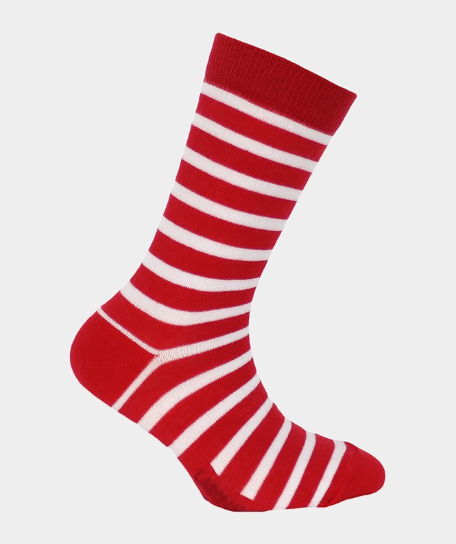 Chaussettes Marin Coton Rouge