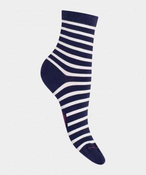 Socquettes Rayures marinières Coton Bleu