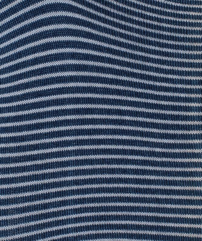 Mini-socquettes Effet jean fines rayures Coton Bleu
