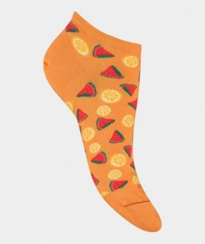 Mini-socquettes Semis fruits Coton Orange