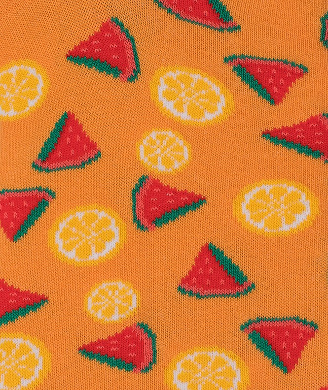 Mini-socquettes Semis fruits Coton Orange