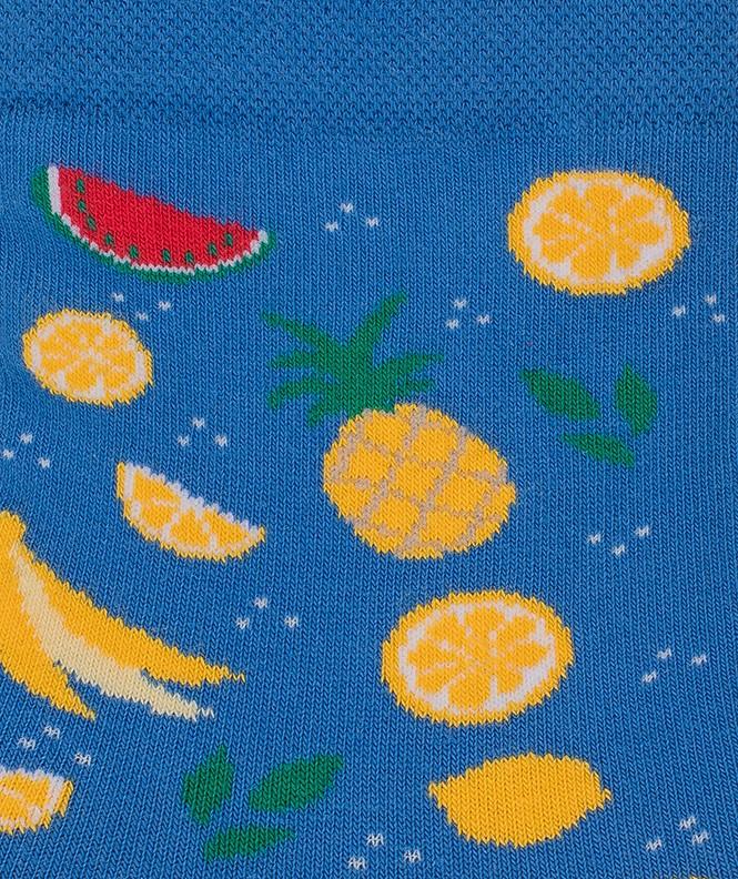 Socquettes Semis fruits Coton Bleu