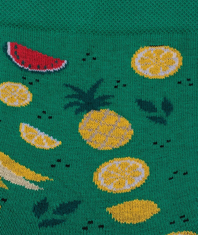 Socquettes Semis fruits Coton Vert
