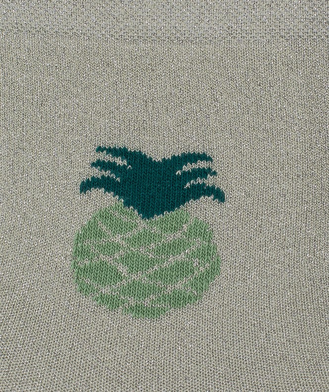 Socquettes Brillantes ananas Viscose Vert