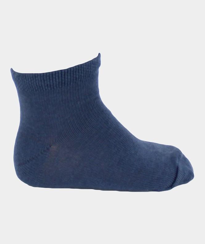 Mini-socquettes Unies Coton Bleu