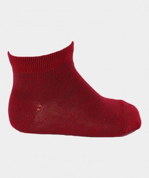Mini-socquettes Unies Coton Rouge