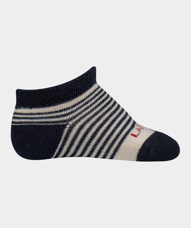 Mini-socquettes Rayures Coton Beige