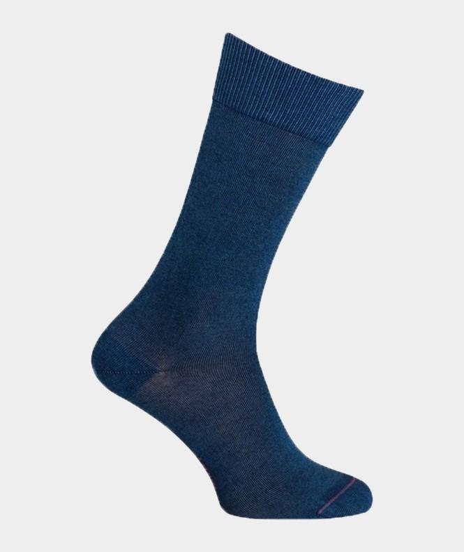 Chaussettes Effet jean unies jersey Coton Bleu