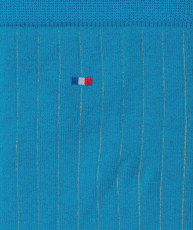 Chaussettes Unies à côtes Fil d'écosse Bleu
