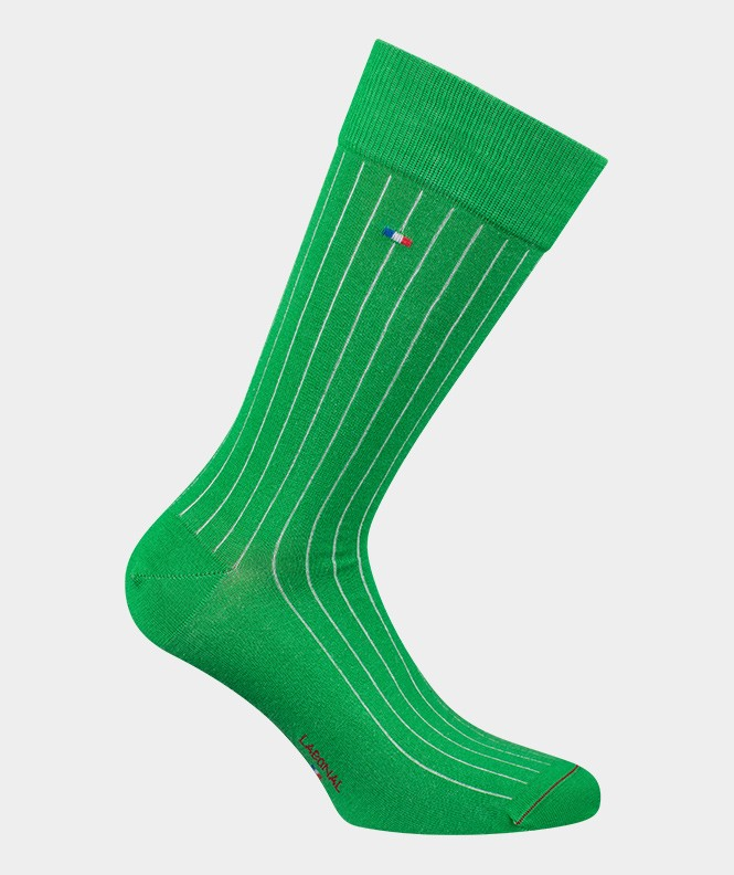 Chaussettes Unies à côtes Fil d'écosse Vert
