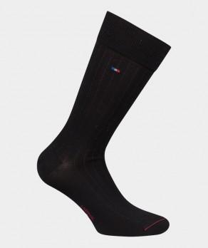 Chaussettes Unies à côtes Fil d'écosse Noir