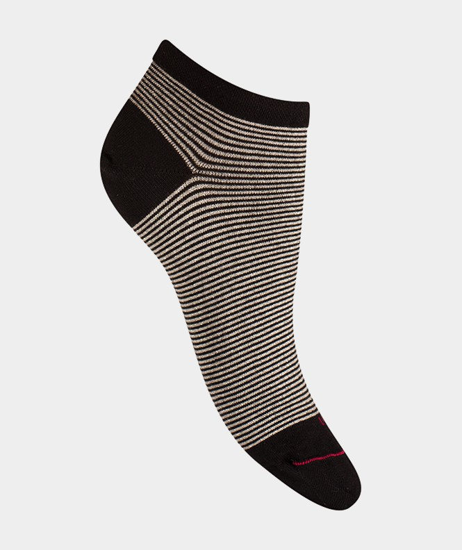 Mini-socquettes Rayures brillantes Coton Noir