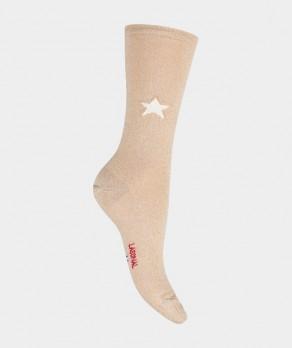 Mi-chaussettes Étoile brillante Coton Beige