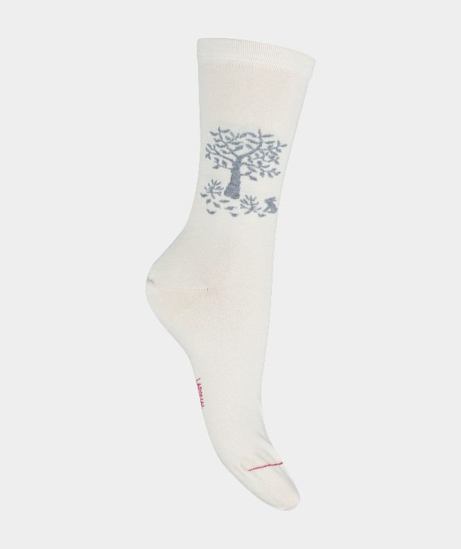 Mi-chaussettes Arbre de vie Coton Beige