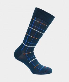 Chaussettes Géométriques Fil d'écosse Bleu