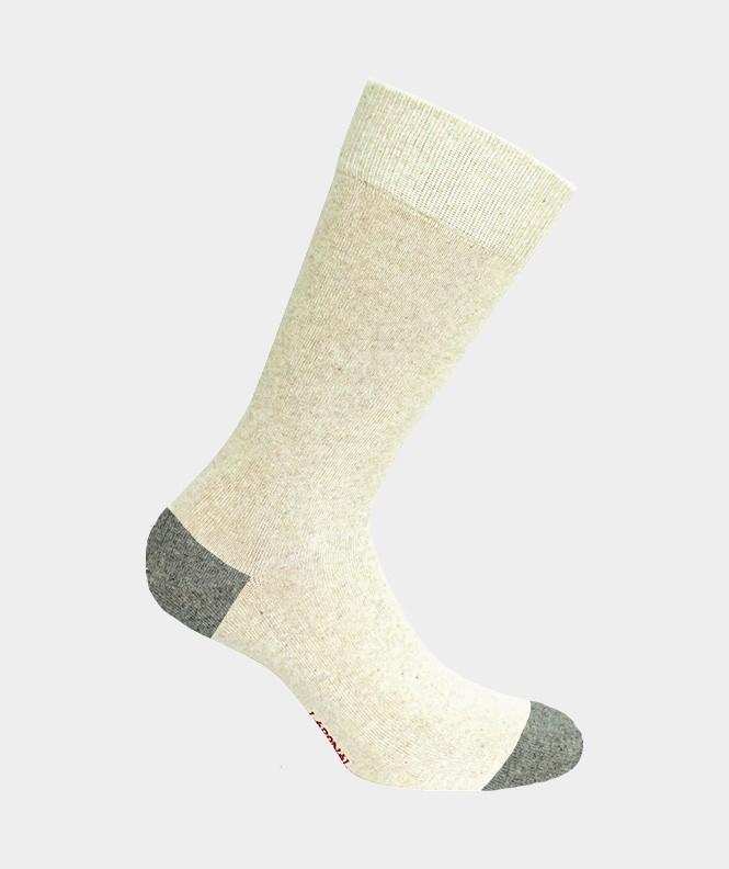 Chaussettes Chinées bio Coton Beige