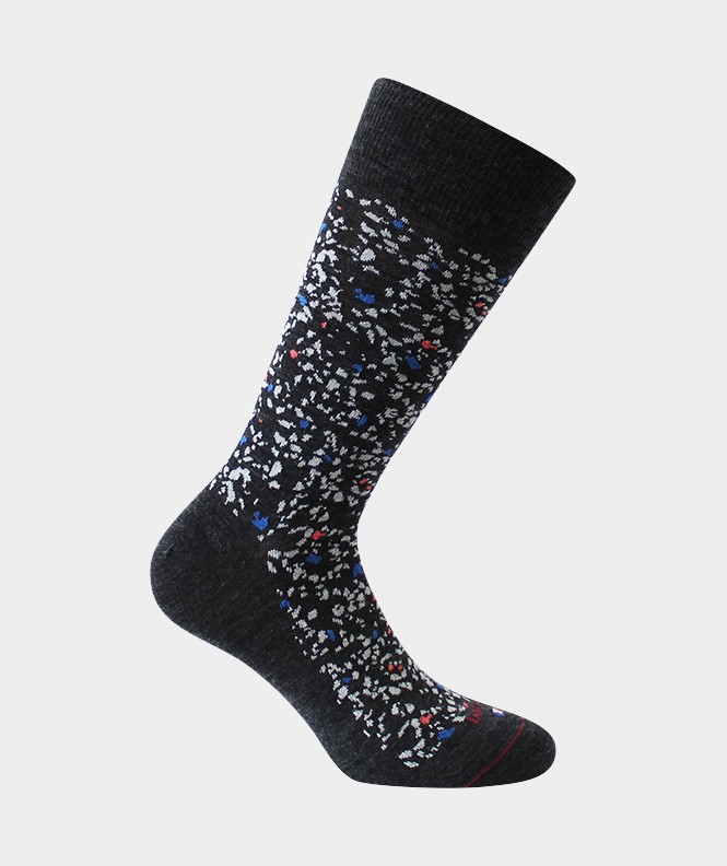 Chaussettes Terrazzo Laine Anthracite