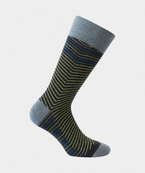 Chaussettes Rayures chevrons Laine Anthracite