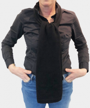 Echarpe unie laine noir