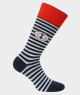 Chaussettes rayure ancre coton Marine