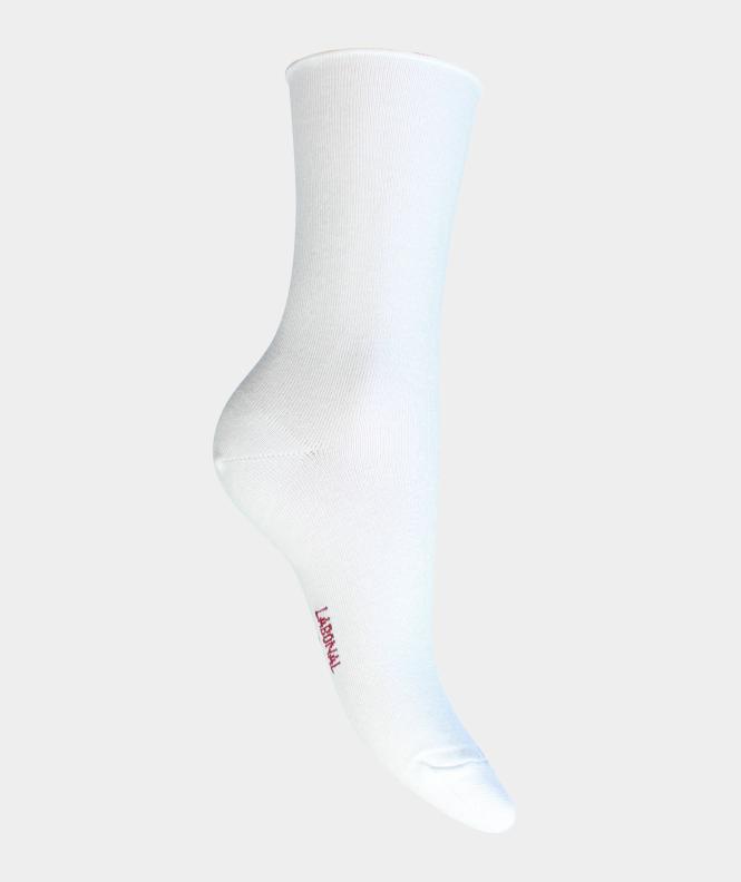 Socquettes unies jersey roulottée Viscose Blanc