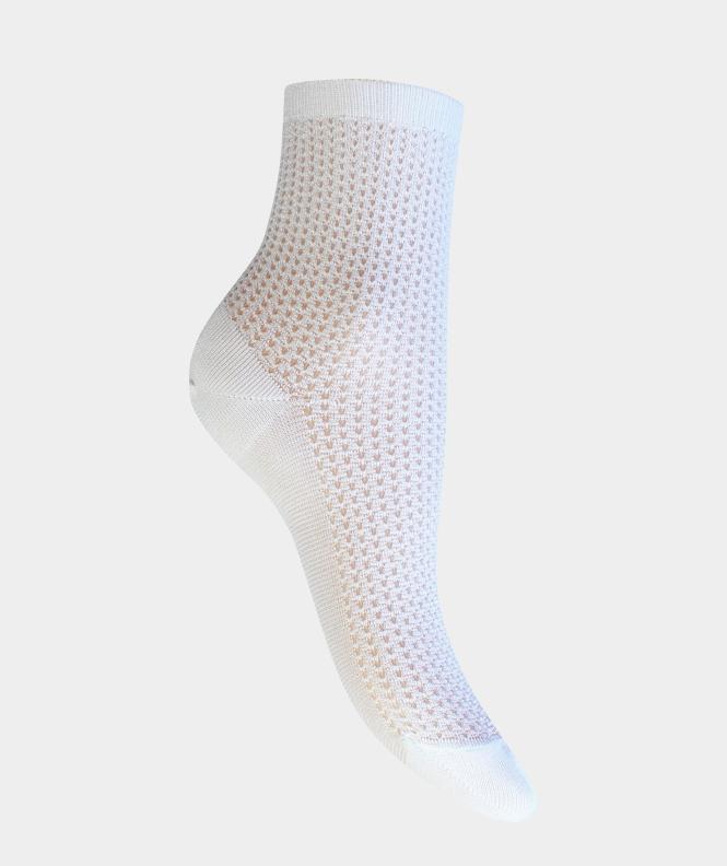 Socquettes traforato Fil d'écosse Blanc