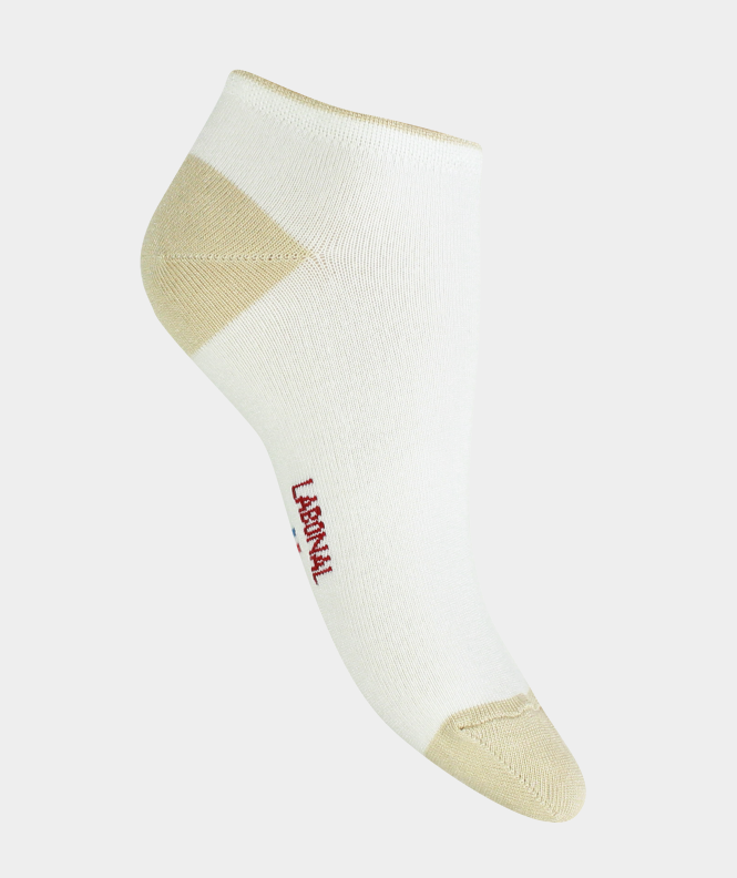Mini-socquettes unies jersey  Viscose Blanc