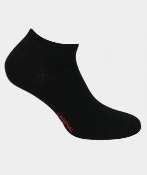 Mini-socquettes unies jersey Viscose Noir